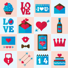 Valentine flat icon, vector