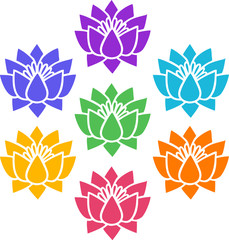 7 Chakras, Lotus Flowers, Cosmic Energy Centers