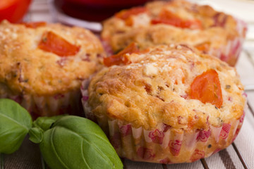 Fresh pizza muffin as a snack