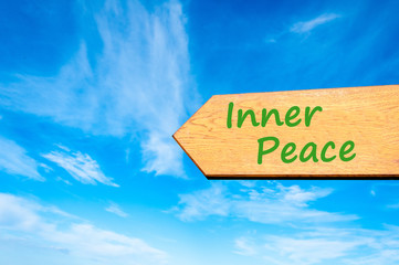 Arrow sign with Inner Peace message