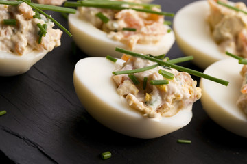 stuffed eggs with salmon