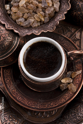 Fotobehang Cafe turkish coffee