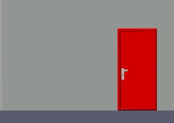 kırmızı kapılı oda