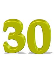 sarı renkli 30 sayısı