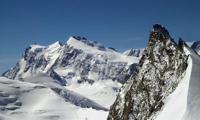 Alps - Monte Rossa Peak from ascent to Allalingorn peak