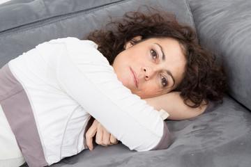 Femme en train de s'endormir