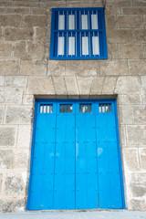 Vintage Colonial Door in Old Havana,Cuba