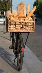 Fahrrad mit Brotkorb