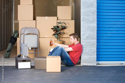 Leinwanddruck Bild Storage: Taking a Break From Lifting