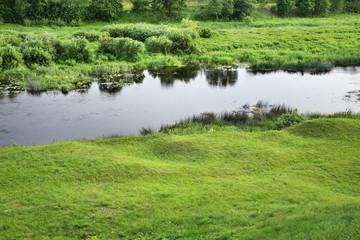 Musa river in Bauska. Latvia