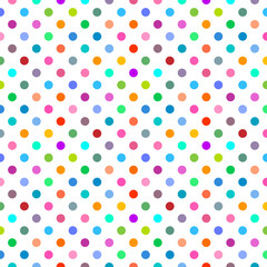 Vector Background #Colorful Polka Dots