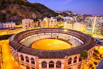 Malaga, Spain Cityscape over Plaza de Toros