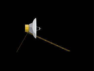 probe voyager travelling through space