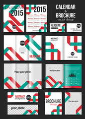 Set of corporate business stationery templates and calendar