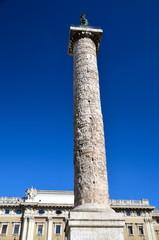 Column of Marcus Aurelius on the Piazza Colonna in Rome