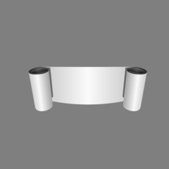 Roll of Blank White Paper. Vector Illustration