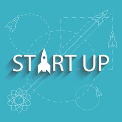 Start up success new project, plan of development business