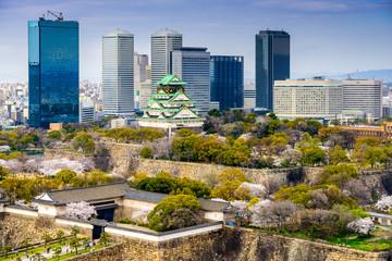 Osaka, Japan Spring Cityscape