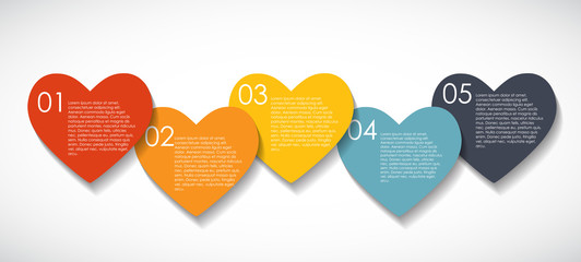 Love Infographic Templates for Business Vector Illustration. EPS