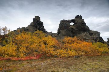 Dimmuborgir area in autumn