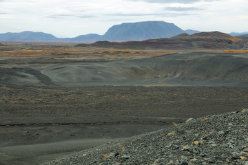 Volcanic landscape from Hverfjall crater
