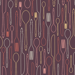 Seamless pattern with cutlery 1