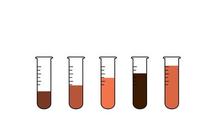 2D Lab tubes animation Scalar Peachy motive