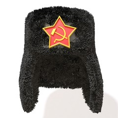 Russian Fur Hat 3d illustration