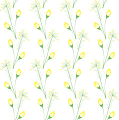 Decorative background of yellow wild flower