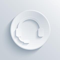 Vector modern headphones light circle icon