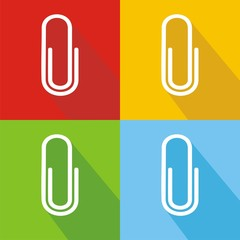 Iconos clip colores sombra