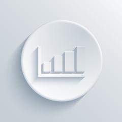 Vector modern graph light circle icon.
