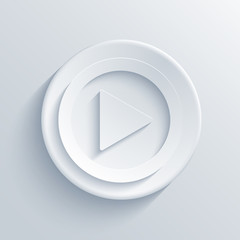 Vector modern play light circle icon