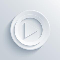 Vector modern play light circle icon