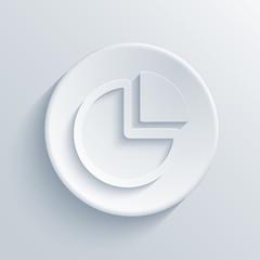 vector modern chart light circle icon.