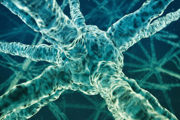 3D Human cell, neuron or molecules background