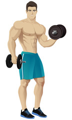 Muscle man , bodybuilder #2.
