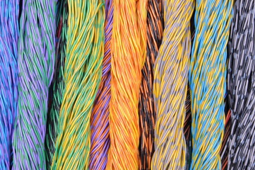 Colored wires in the global networks