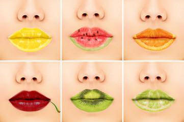 Fruit mix lips