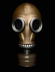 Gas mask isolated on black