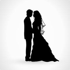 Brautpaar Hochzeitspaar Vektor Silhouette