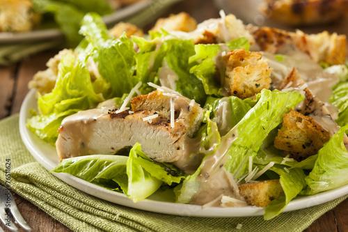 Healthy Grilled Chicken Caesar Salad - 76511624