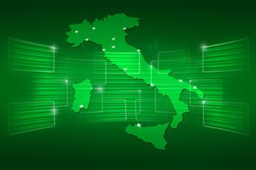 Italy Map World map News Communication green