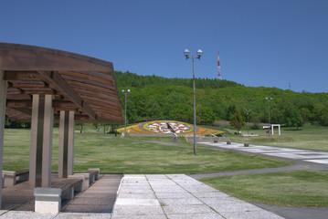 花時計のある公園