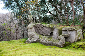 Statue Of Fury, The Park Of Monsters, Bomarzo, Italy