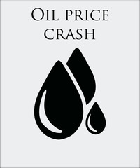 falling prices of oil and fuel, oil dots on color background