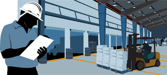 Man inside warehouse