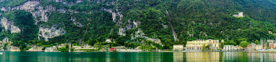 view of the lake Garda . North Italy.
