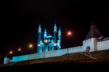 Russia. Tatarstan. Kazan. Kazan Kremlin and Illuminated Kul Shar