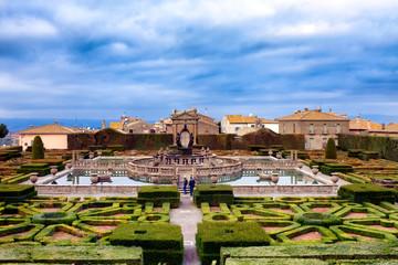 Square Fountain Villa Lante Italy